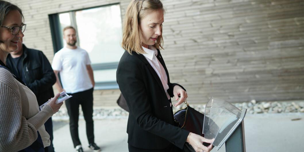 Iselin Nybø har klart utfordringen - å leve på studentbudsjett en uke. Foto: Ketil Blom Haugstulen