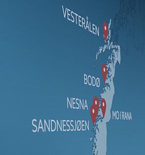 Nord universitet kart. Foto: Paul S. Amundsen