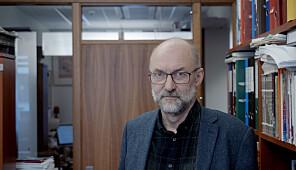 Tor Helge Allern, professor Nord universitetet på kontoret på campus Nesna