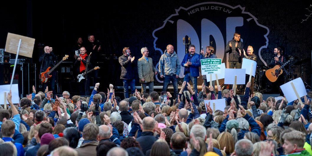 """DDE mobiliserte mot nedlegging av Campus Namsos og vant fram . Noen som husker """"Skit i Norge, leve Toten"""", spør prodekan ved helsefakultetet ved Nord universitet, Ottar Bjerkeset."""