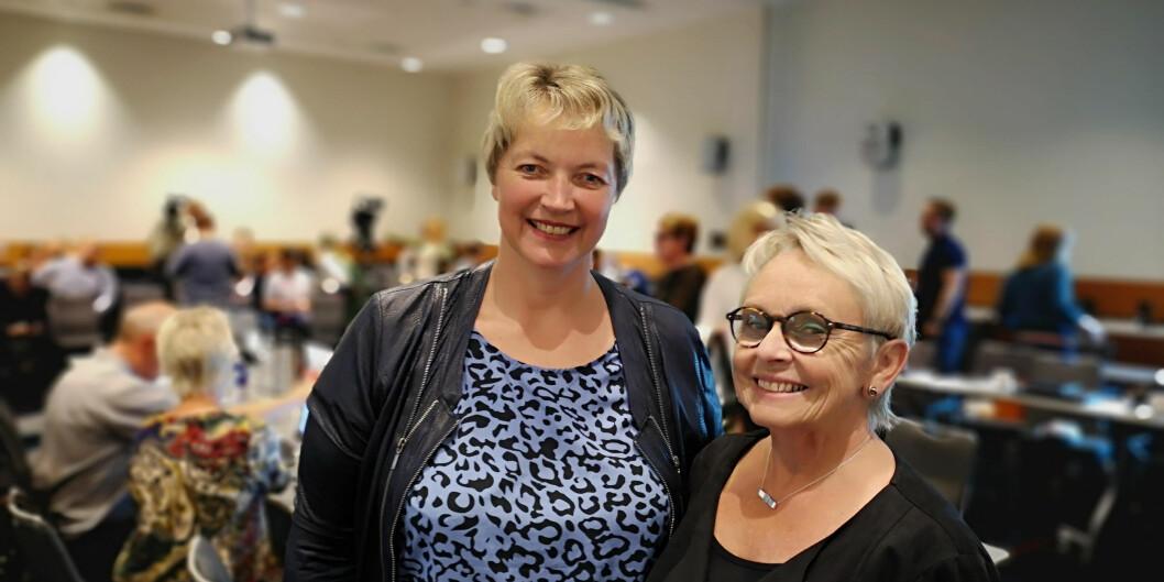 Rektor og styreleder for Nord universitet samlet: Hanne Solheim Hansen og Vigdis Moe Skarstein. Foto: Nord universitet