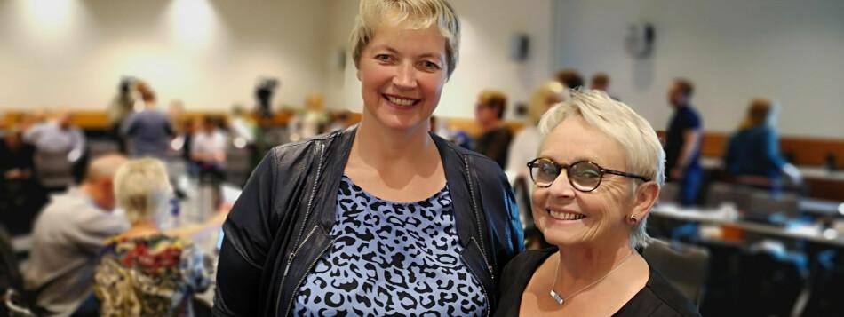 Styret ved Nord universitet ved styreleder Vigdis Moe Skarstein (t.h.) ansatte i dag Hanne Solheim Hansen (t.v.) som ny rektor . Foto Øystein Fimland