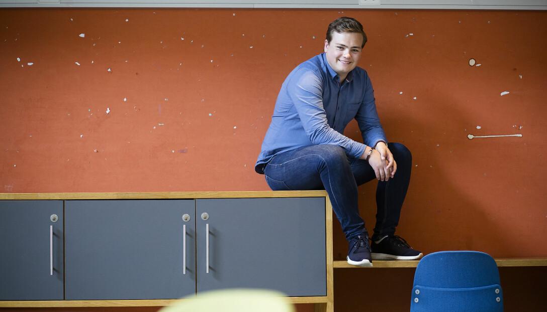 Andreas Trohjell er glad etter lørdagens valg.