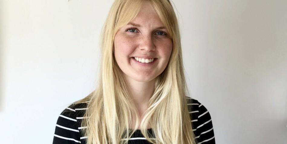 Ragnhild Vartdal er for tida produsent for aktualitetsprogrammet Desse dagar på NRK P2. 1.september er ho på plass i Khronos osloredaksjon. Foto: Privat