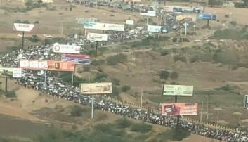 Demonstrasjonene søndag mobiliserte store deler av befolkningen. Foto: Privat