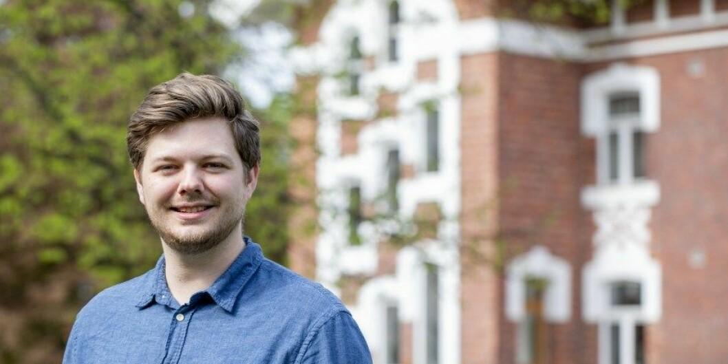 Internasjonalt ansvarlig i Norsk studentorganisasjon, Stian Skarheim Magelssen. Foto: Håkon Sparre/NMBU