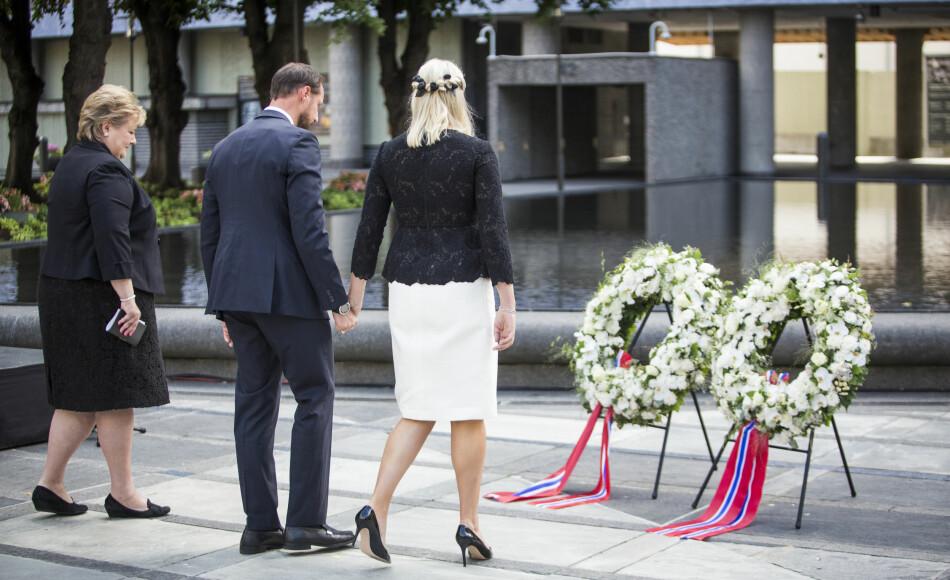 Fra minnemarkeringen i 2016, fem år etter terrorangrepene 22. juli i regjeringskvartalet og på Utøya. Foto: Peter Mydske / Stortinget