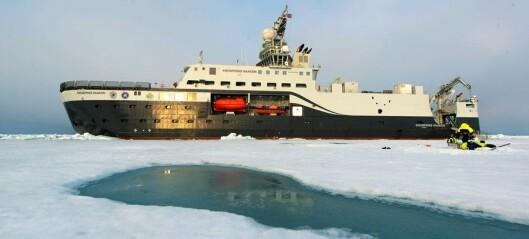 Forskningsskip til 1,4 milliarder skadet, avbrøt tokt til Polhavet