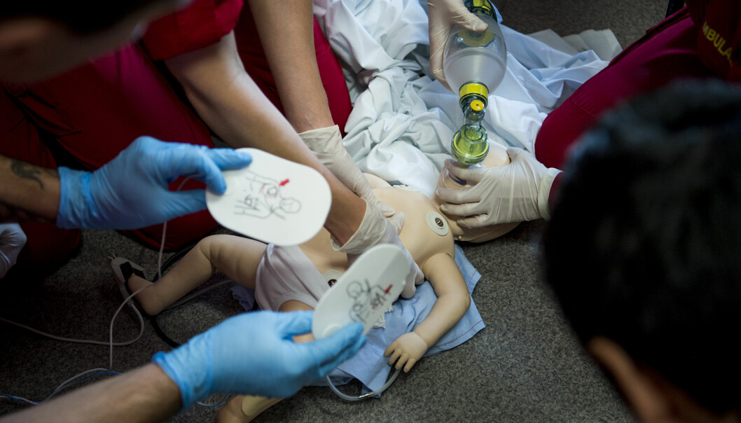 Bilde fra Simuleringsenheten på paramedisin ved OsloMet. Foto: Benjamin A. Ward / HiOA