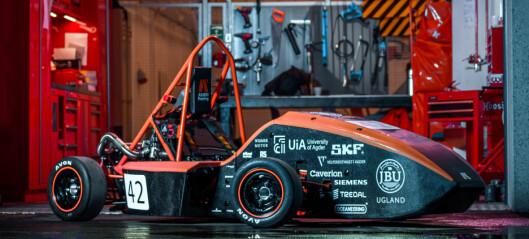 UiA-studenter bygget egen bil. Ble beste nordiske lag i internasjonal konkurranse