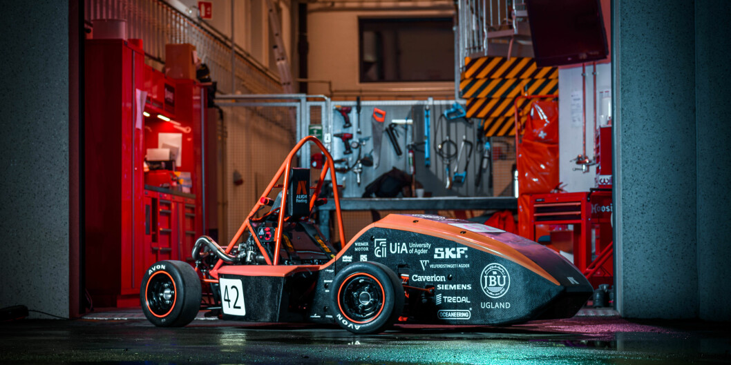 Den studentbyggede bilden AR-19 Solan gjorde det godt i internasjonal konkurranse. Foto: Align Racing UiA