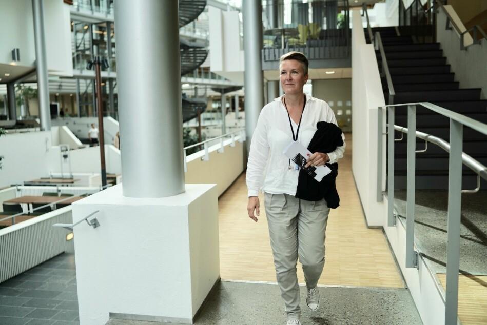 Studentprest ved Handelshøyskolen BI — campus Oslo, Anne Anita Lillebø, sier hun tror dagens generasjon er mer åpne, og har mer respekt for religion og tro enn hennes egen generasjon. Foto. Ketil Blom Haugstulen