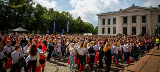 Studiestart: 103.531 studenter har fått tilbud om plass, men det er bare planlagt 58.741 studieplasser