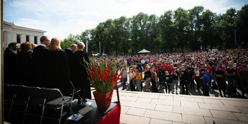 Universitetet i Oslo er et av 15 universiteter med studiestart 12.august. Foto: Runhild Heggem