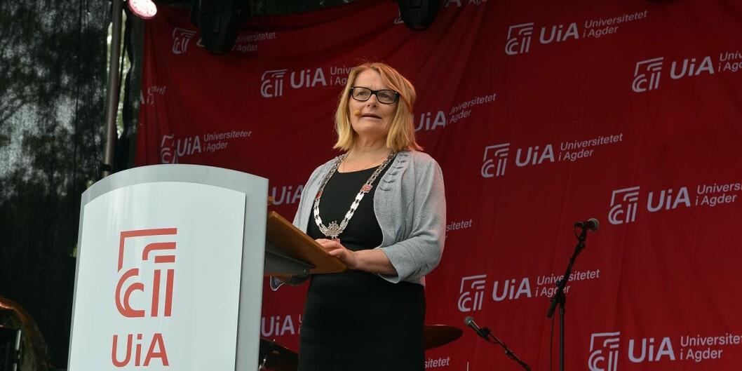 Rektor Sunniva Whittaker ved Universitetet i Agder mener den nye dekangruppen har en god blanding av fornyelse og kontinuitet. Foto: UiA