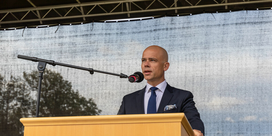Lars-Petter Jelsness-Jørgensen, rektor Høgskolen i Østfold. Foto: Foto: Bård Halvorsen / Høgskolen i Østfold