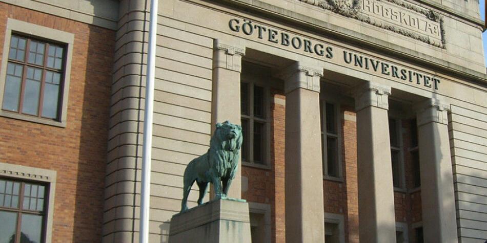 Ved Göteborgs universitet hang det tidligere et skilt som viste hvor «nationella sekretariatet för genusforskning» befant seg. Nå har man tatt disse ned. Foto: Wikimedia Commons.