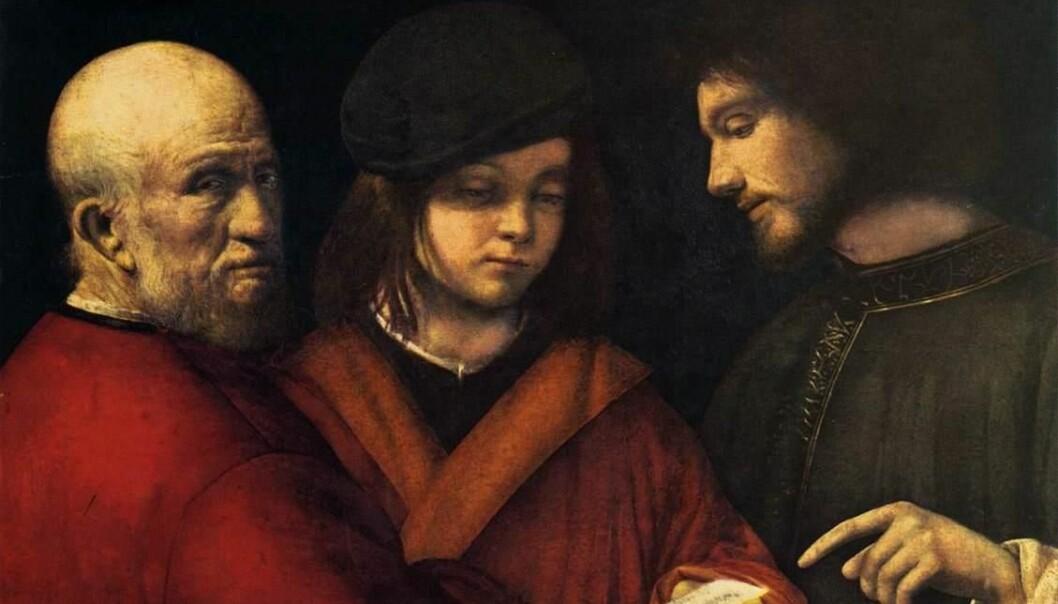 Bildet «The three ages of man» er valgt som symbol for konferansen. Bilet er malt av Giorgione i ca1500.