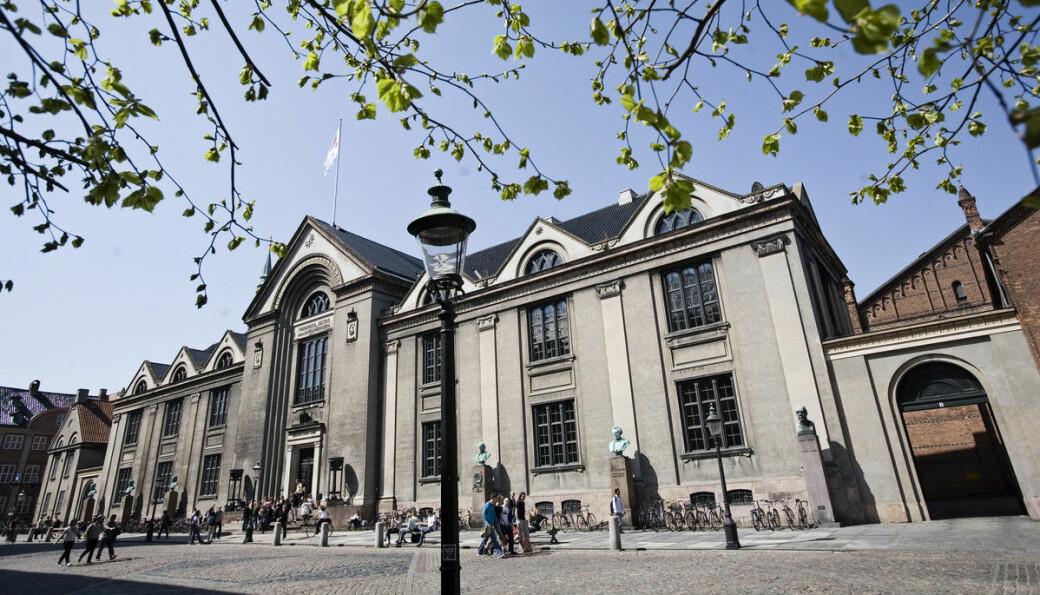 Tre fjerdedeler av studieplassene tilbys i en av Danmarks fire største byer, her representert ved København universitet i hovedstaden.
