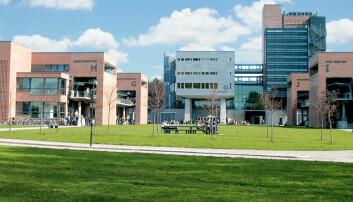 Campus på Universitetet i Agder.