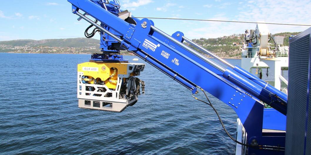 Ægir 6000 er en av svært få forsknings-ROV'er i verden som kan dykke ned til 6000 meter. Foto: Dag Hellesund