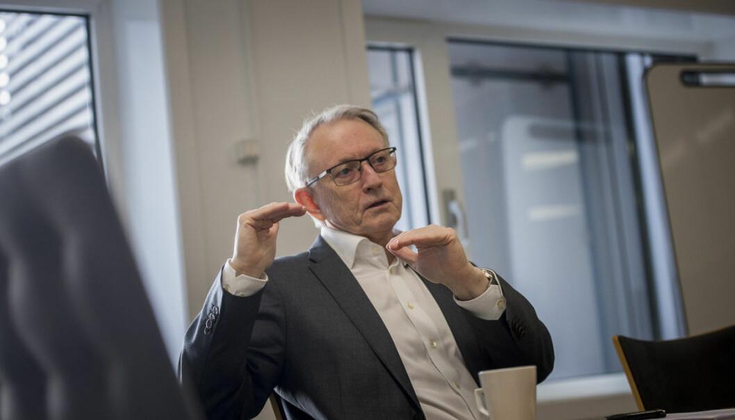 Styret for Høgskulen på Vestlandet, her ved styreleder Arvid Hallén, vedtok budsjett for høgskolen. Foto: Skjalg Bøhmer Vold