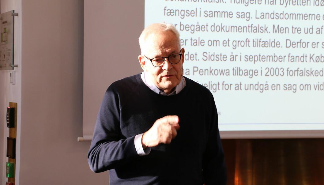 Albert Gjedde var instituttleiaren som fekk Penkowa-saka i fanget. Han presset for å publisera kan vera deler av årsaka til at nokre forskarar tek snarvegar. Foto: Hilde Kristin Strand