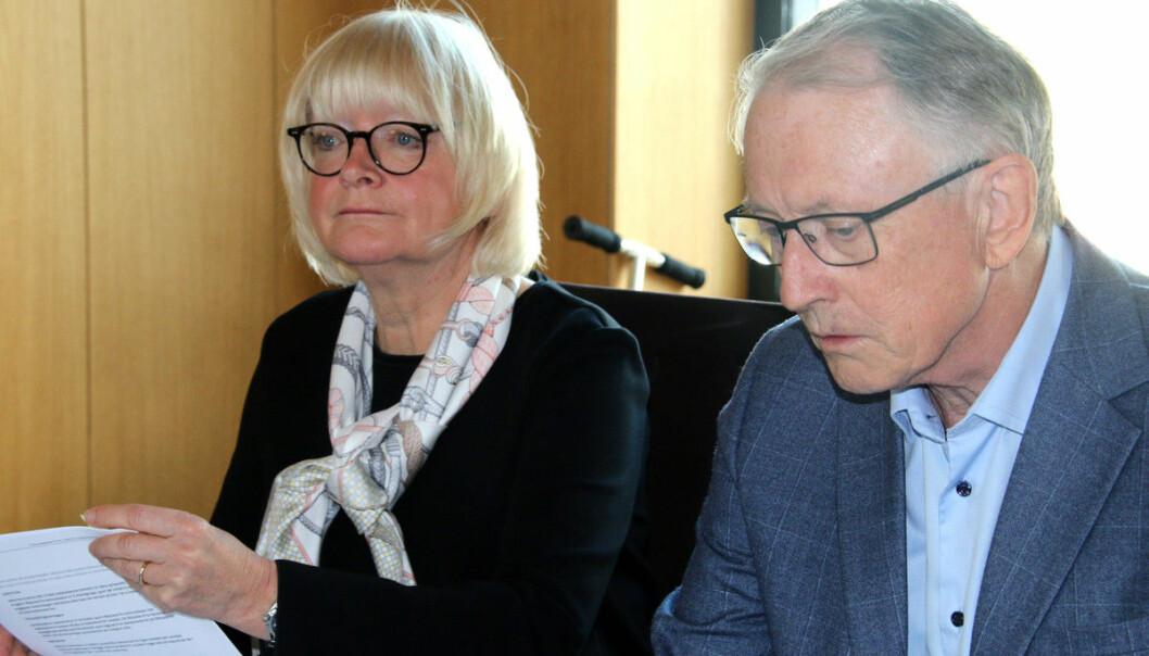 Styreleder Arvid Hallén leder arbeidet med å finne ny rektor etter Berit Rokne.