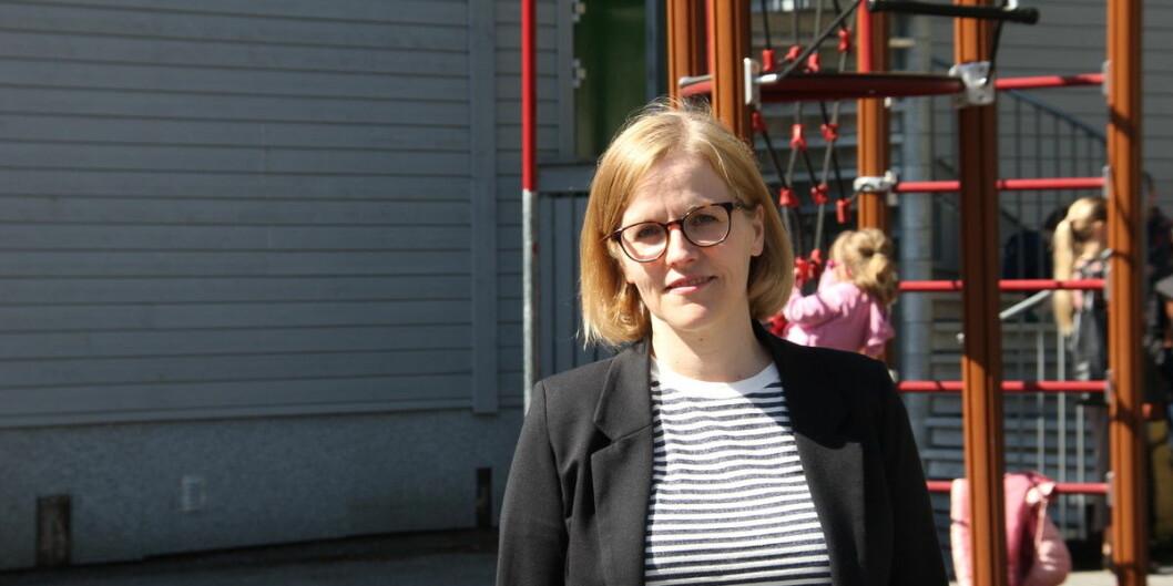 Det er ikke slik at barnas språkopplæring blir hemmet av at noen ansatte i barnehagen ikke mestrer norsk veldig godt, sier førsteamanuensis Ann-Kristin Helland Gujord. Hun er skeptisk til regjeringens språkkrav. Foto: Hilde Kristin Strand