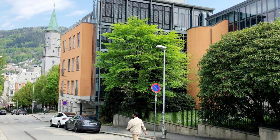 Det ble funnet asbestholdig materiale under byggearbeid i Christies gate 18. Foto: Njord V. Svendsen