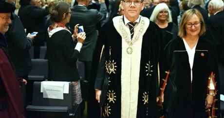 UiO-rektor, Svein Stølen, ønskjer likevel å bli med i Khrono-samarbeid. Foto: OlaSæther/Uniforum