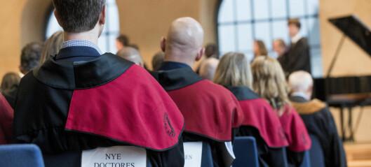 Korona har gitt nedgang i avlagte doktorgrader