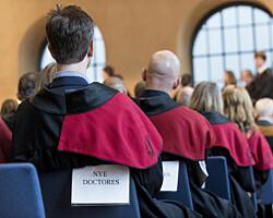 Nedgang i avlagte doktorgrader