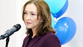Administrerande direktør Elisabeth Maråk Støle under opninga av det nye forskingsselskapet Norce 1. oktober. Men dei tilsette er misnøgde med at dei mistar pensjon i det nye selskapet.