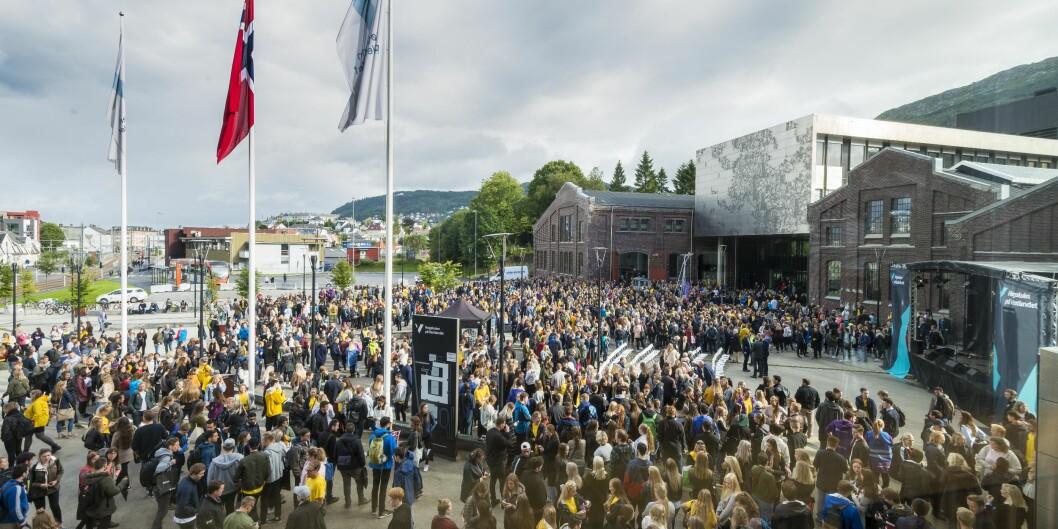 Studiestart på Høgskulen på Vestlandet (HVL). Foto: Tor Farstad