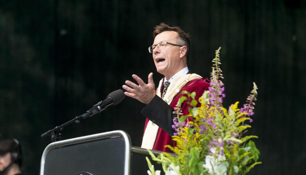 Rektor Dag Rune Olsen ved Universitetet i Bergen. Foto: Tor Farstad
