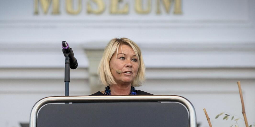 Monica Mæland er justis- og beredskapsminister. Departementet hennes omtaler Politihøgskolen som en etatsskole, til tross for at Politihøgskolen er underlagt lov om universiteter og høgskoler.