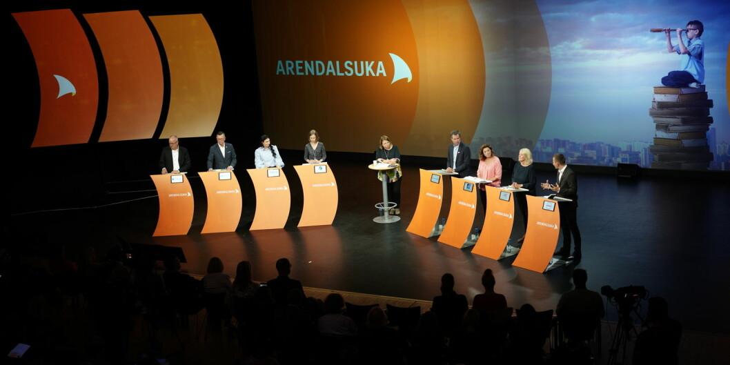 Hoveddebatten på torsdag handlet om framtidens universitet, og var en av rundt 200 arrangementer universitets- og høgskolesektoren sto bak. Foto: Ketil Blom Haugstulen