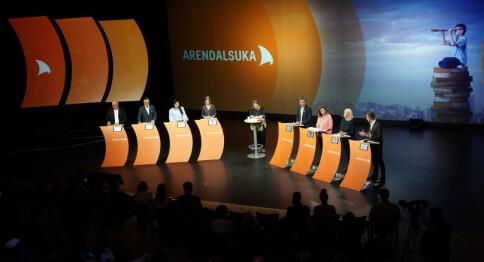 UH-topper i Arendal: Fikk minglet og snakket om bærekraft