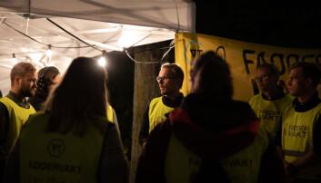Faddervakter forbereder seg til nattens vakt. Foto: Mina Ræge