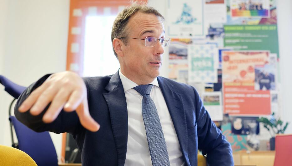 Volda-rektor Johann Roppen trudde at lønsforskjellane mellom landets rektorar ville vore større. Foto: Øystein Torheim