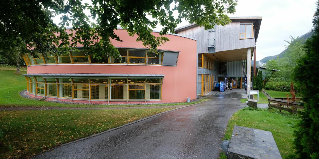 Berte Kanutte-bygget der høgskolens administrasjon holder til. Foto: Øystein Torheim