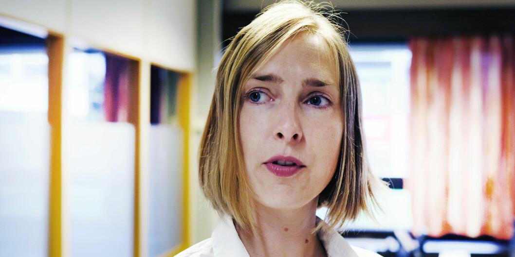 Iselin Nybø åpner for debatt om etabl3ring av nasjonal varslingsnemnd for overgrepssaker Foto: Øystein Torheim