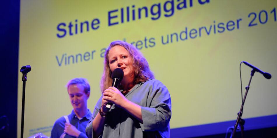 Stine Ellinggard fra Institutt for estetiske fag har fått årets underviserpris ved OsloMet. Foto: Skjalg Bøhmer Vold/OsloMet