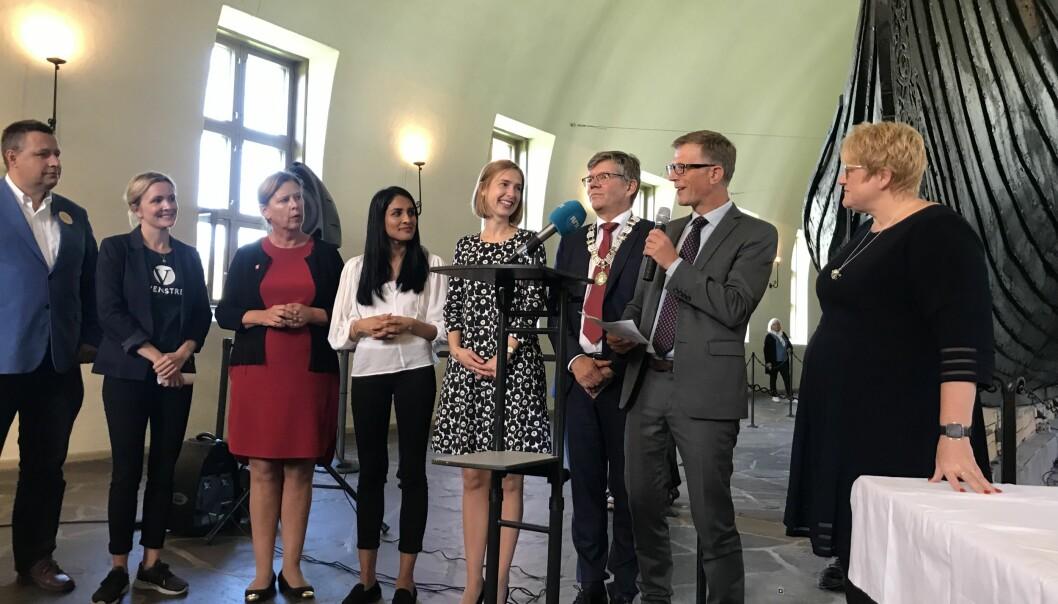 En sprudlende glad museumsdirektør Håkon Glørstad. Foto: Eva Tønnessen
