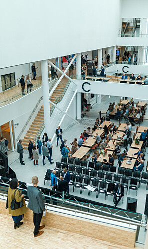 Innovasjonsbygget InnoCamp under den offisielle opninga den 30. august. Foto: Thomas Jergel, Camerat