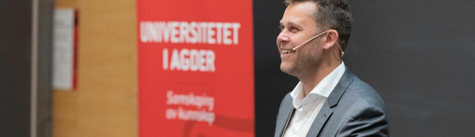Professor og leder for Senter for Digital Transformasjon ved Universitetet i Agder, Leif Skiftenes Flak. Foto: Jon-Petter Thorsen