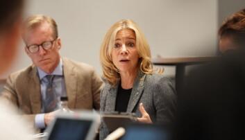 Prorektor Nina Waaler på styremøtet fredag 6. september. Foto Ketil Blom Haugstulen