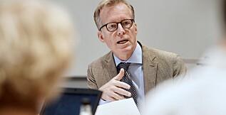 Rektor ved OsloMet, Curt Rice, skriver i en oppdatering til universitetets ansatte denne uken at den nye styringsgruppen vil rapportere direkte til ham. Foto: Ketil Blom Haugstulen