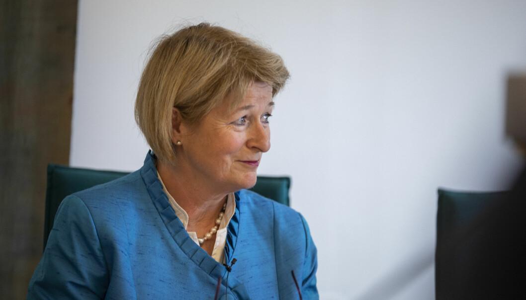 Rektor ved UiT Norges arktiske universitet, Anne Husebekk, er fornøyd etter møte med Kunnskapsdepartementet. Foto: David Jensen/UiT